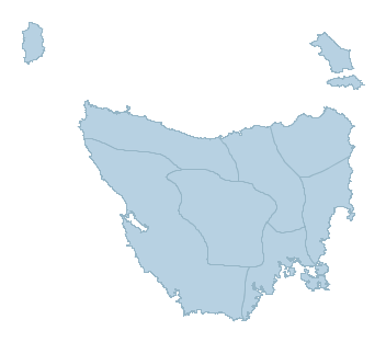 Weather Australia, Weather Forecast, Weather Forecast Australia - Tasmania map